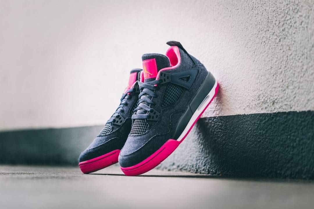 Air Jordan IV Retro GG Denim Pink
